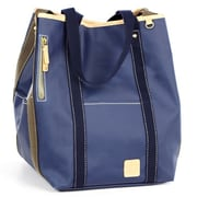 Clava Leather Carina Two Face Tote Bag; Indigo