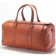 Clava Leather Vachetta Barrel 19'' Leather Travel Duffel; Vachetta Tan