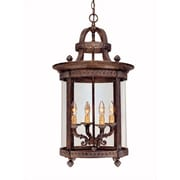 World Imports Lighting French Country 4 Light Outdoor Hanging Lantern