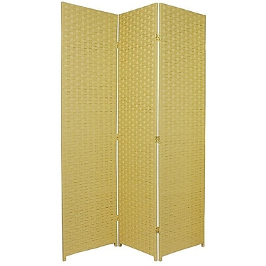 Oriental Furniture 70.75'' x 52.5'' 3 Panel Room Divider; Dark Beige