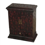 Oriental Furniture Chinese Calligraphy Multimedia Cabinet