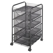 Safco Products 27'' Mesh Mobile File Cart; 15.75'' W