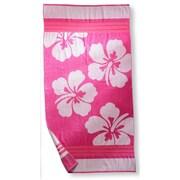 Simple Luxury Hawaiian Flower Beach Towel; Pink