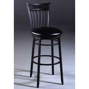 Hillsdale Cottage 26'' Swivel Counter Height Stool; Rubbed Black