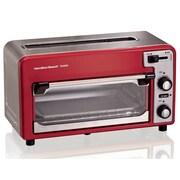 Hamilton Beach 2-Slice Toastation Combination Toaster & Toaster Oven; Red