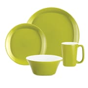 Rachael Ray Round and Square Dinnerware 4 Piece Place Setting Set; Green