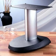 VTI VSPC Series Fixed Height Speaker Stand; Silver Pole/Black Base