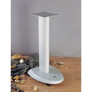 VTI VSP Series 24'' Fixed Height Speaker Stand (Set of 2); Grey Base/Silver Pole