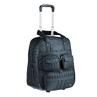 Lug Puddle Jumper 19'' Overnight / Gym Bag with Wheels; Midnight Black