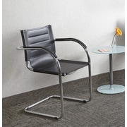 Safco Products Flaunt Leather Guest Chair; Black Leather