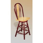 Sunset Trading Sunset Selections 24'' Swivel Bar Stool; Nutmeg / Rich Honey Light Oak