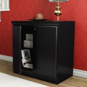 South Shore Morgan 31.25'' Storage Cabinet; Black