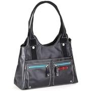Clava Leather Carina Triangle Tote Bag; Black