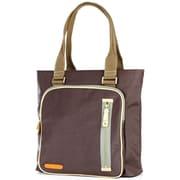 Clava Leather Carina Square Pocket Tote Bag; Caf
