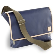 Clava Leather Carina Messenger Bag; Indigo