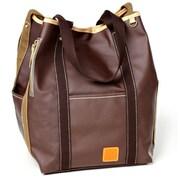 Clava Leather Carina Two Face Tote Bag; Caf