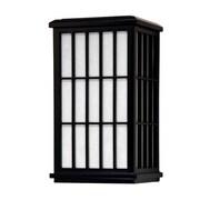Oriental Furniture Japanese Window Pane Wall Sconce; Black