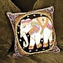 Oriental Furniture Burmese Elephant Pillow
