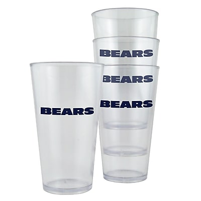 Boelter Brands NFL Pint Cup (Set of 4); Chicago Bears WYF078276161537