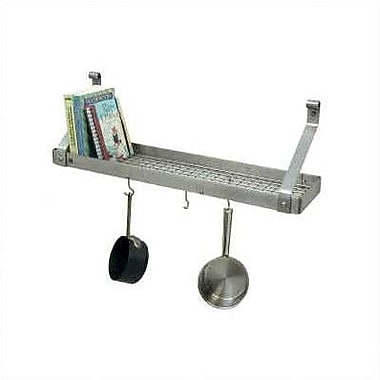 Enclume Bookshelf Pot Rack; Stainless Steel