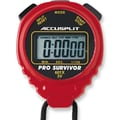 Accusplit Professional Survivor Stopwatch; Red