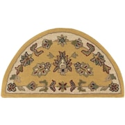 LR Resources Shapes Gold/Ivory Border and Traditional Floral Rug; 2'3'' x 3'10''