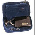 Bond Street Leather Jewelry Travel Case; Blue