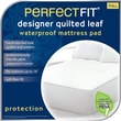 Perfect Fit Industries Leaf Polyester Waterproof Pad; Queen