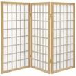 Oriental Furniture 35.75'' x 43'' Window Pane Shoji 3 Panel Room Divider; Natural
