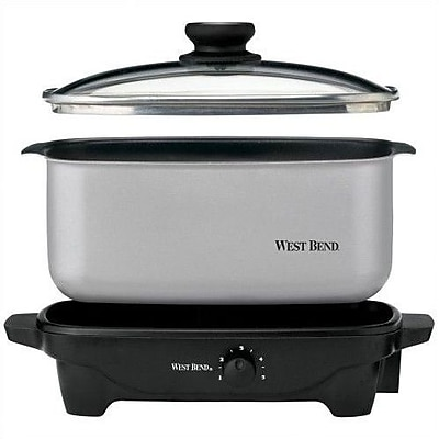 West Bend 5-Quart Oblong Slow Cooker WYF078275701881