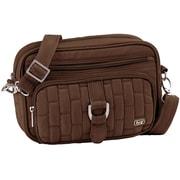 Lug Carousel Mini Cross Body Bag; Chocolate Brown