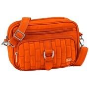 Lug Carousel Mini Cross Body Bag; Sunset Orange