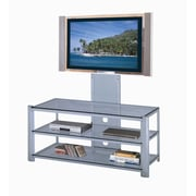 Lite Source Burly 53'' TV Stand; Silver