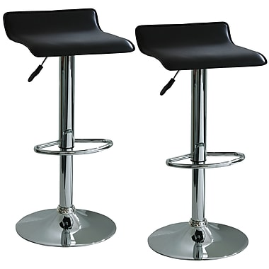Buffalo Tools Amerihome 21.5'' Adjustable Swivel Bar Stool with Cushion (Set of 2)