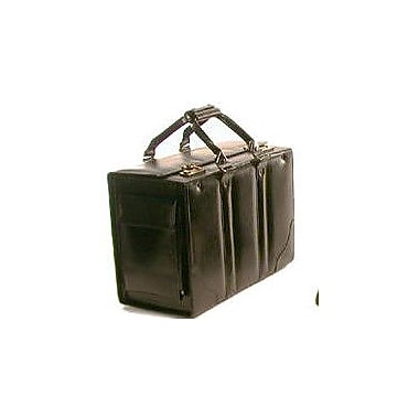 Bond Street Double Handle Catalog Case Leather Laptop Briefcase