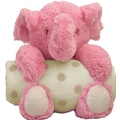 Step by Step Animal and Blanket Elephant Toy and Blanket; Pink