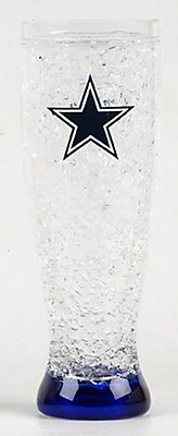 DuckHouse NFL 16 Oz. Crystal Freezer Pilsner Glass; Dallas Cowboys WYF078276161203