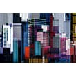 Brewster Home Fashions Ideal Decor Colorful Skyscrapers Wall Mural