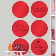 Brewster Home Fashions WallPops Dry-Erase Dot Whiteboard Wall Decal (Set of 6); Red