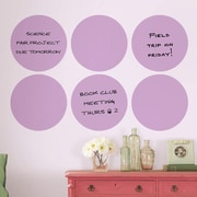 Brewster Home Fashions WallPops Dry-Erase Dot Whiteboard Wall Decal (Set of 6); Purple