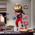 Fathead NCAA Mascot Wall Decal; Ohio State - Brutus Buckeye
