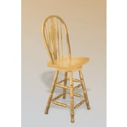 Sunset Trading Sunset Selections 24'' Swivel Bar Stool; Rich Honey Light Oak