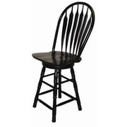 Sunset Trading Sunset Selections 24.25'' Swivel Bar Stool; Antique Black