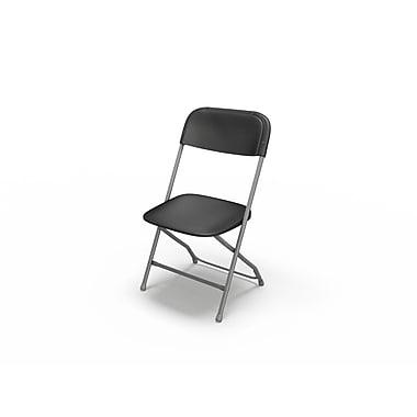 Mayline Event Folding Chair (Set of 8); Black