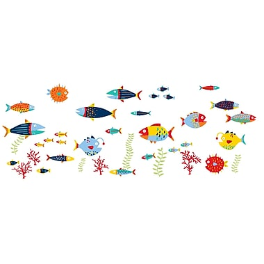 WALL POPS!® Small Wall Art Kit, Fish Tales, 38 Stickers
