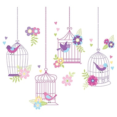 WallPops!MD – Trousse d'art mural, grande, Chants d'oiseaux, 27 autocollants
