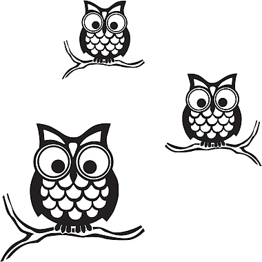 WALL POPS!® Small Wall Art Kit, Give a Hoot, 3 Stickers