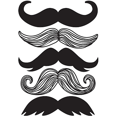 WALL POPS!® Small Wall Art Kit, Mustache, 5 Stickers