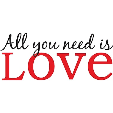 WallPops!MD – Citations murales, « All You Need is Love », 6 autocollants