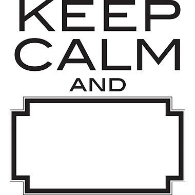 WALL POPS!MD – Mots muraux, « Keep Calm », 4 autocollants, à effacement sec